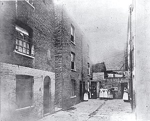Public housing - Boundary Street 1890, three years later, the London County Council began slum clearance