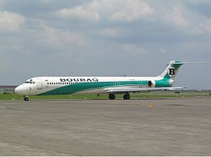 Aviation in Indonesia - A Bouraq Indonesia Airlines McDonnell Douglas MD-82