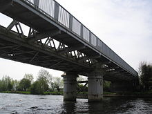 Bourne End Railway and Foot Bridge.JPG