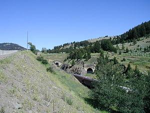 Bozeman Pass - Image: Bozeman Pass tunnel 2