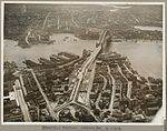 Bradfield Highway and Sydney Harbour Bridge on its opening day, 19 March 1932 (6174055380).jpg