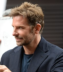 A photograph of Bradley Cooper attending the premiere of his film, A Star Is Born (2018)