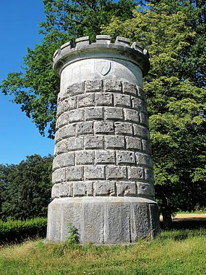 Battle of Laupen - Monument of the battle on Bramberg, municipality of Neuenegg