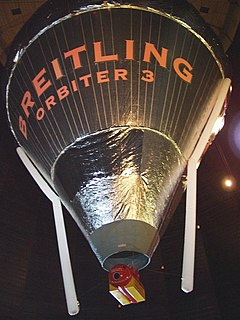 <i>Breitling Orbiter</i> first balloon to non-stop circumnavigate the globe