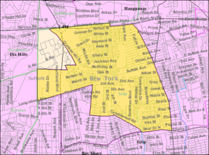 Brentwood, New York - Image: Brentwood ny map