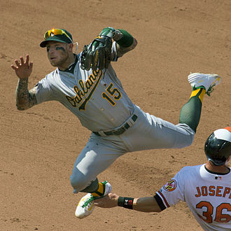 Brett Lawrie - Lawrie playing for the Oakland Athletics in 2015