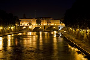Bridge Principe Amedeo Savoia Aosta at Night.jpg