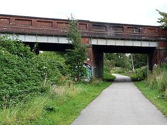 Fallowfield Loop railway line - St Werburgh's Road bridge over the Fallowfield Loop Cycleway