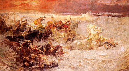 Bridgman Pharaoh's Army Engulfed by the Red Sea