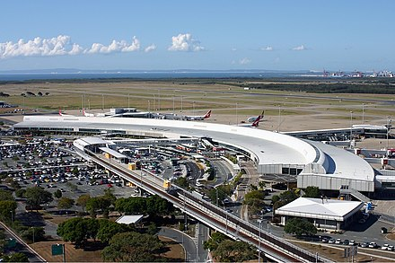 Domestic terminal at Brisbane Airport Brisbane Airport domestic terminal Vabre.jpg