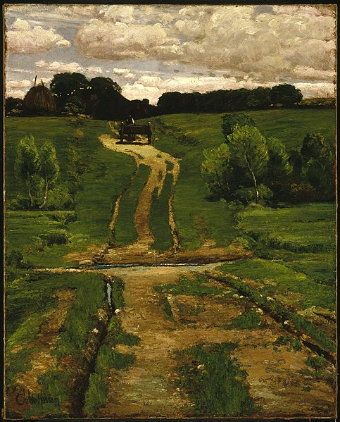 File:Brooklyn Museum - A Back Road - Frederick Childe Hassam.jpg