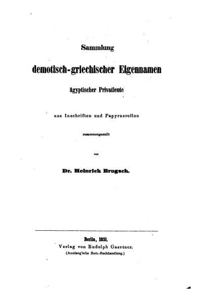 File:Brugsch Sammlung demotisch-griechischer Eigennamen.djvu