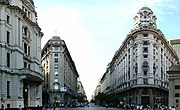 European influenced buildings on Diagonal Norte