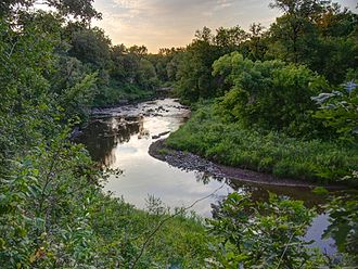 Buffalo River (Minnesota) - The Buffalo River in Buffalo River State Park