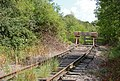 Bufferstop on disused railway spur, Butlers Leap - geograph.org.uk - 1414860.jpg