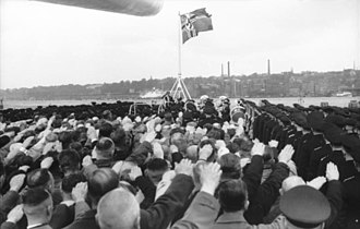 Reichskriegsflagge - Aboard the German battleship ''Bismarck'', 1940