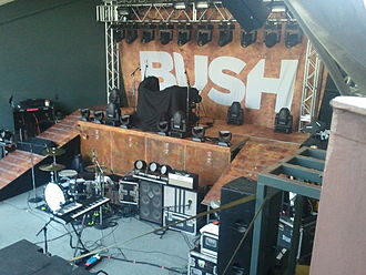 Bush (British band) - Bush stage before playing 8-17-2011 Austin, TX