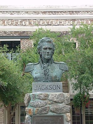 Plaza Ferdinand VII - A bust of Andrew Jackson at the Plaza Ferdinand VII, where Jackson was sworn in as governor.