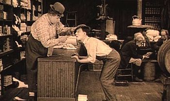 Roscoe Arbuckle und Buster Keaton in The Butcher Boy