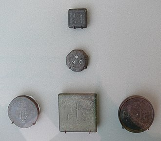 Byzantine units of measurement - Five bronze commodity weights