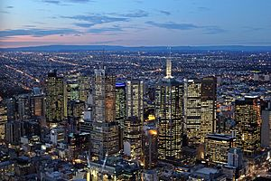 Melbourne City Centre - CBD of Melbourne as viewed from Eureka Tower