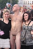 clothed female nude male public disgrace anal