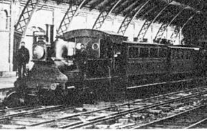 1864 in South Africa - Cape Town Railway & Dock 2-4-0T