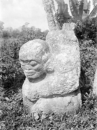 Southeast Asia - A megalithic statue found in Tegurwangi, Sumatra. 1500 CE