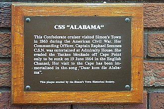 CSS Alabama - CSS Alabama plaque in Simonstown