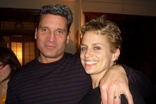 Cady Huffman with then husband William Healy, December 2007.jpg