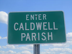Caldwell Parish, Louisiana - Image: Caldwell Parish sign, LA, IMG 2755