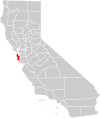 California county map (San Mateo County highlighted).svg