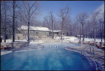 Camp David durante la administración de Richard Nixon, 9 de febrero de 1971.