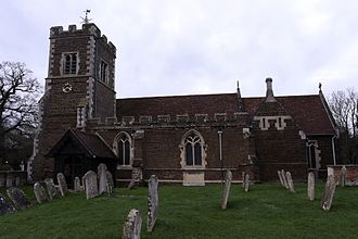 Church of All Saints, Campton - Image: Campton Church