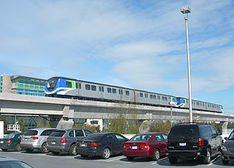 SkyTrain (Vancouver) -  Canada Line trains at Vancouver International Airport