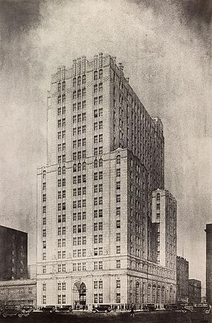 Architectural rendering - Architectural rendering of the Canada Permanent Trust Building, Toronto, Canada