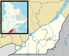Map that shows the location of Châteauguay in southern Quebec.