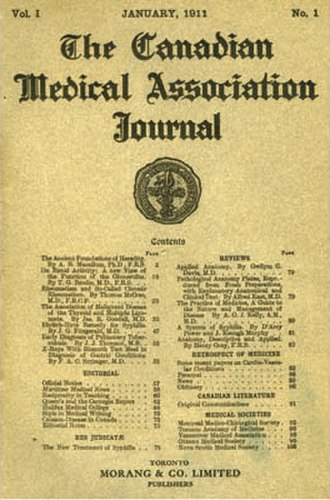 Canadian Medical Association Journal - First issue of Canadian Medical Association Journal, January 1911