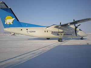 Canadian North - Canadian North de Havilland Canada Dash 8 at Cambridge Bay Airport