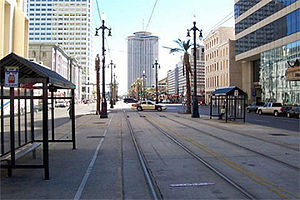 English: Canal Street in New Orleans in Decemb...