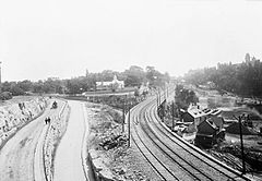 Canal Locks From Nepean Point - 1900.jpg