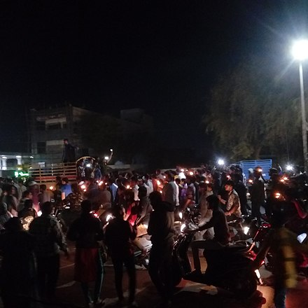 Candle light march organised in Mehsana, Gujarat Candle Light March organised in Mehsana Gujarat in wake of 2019 Pulwama Attack.jpg