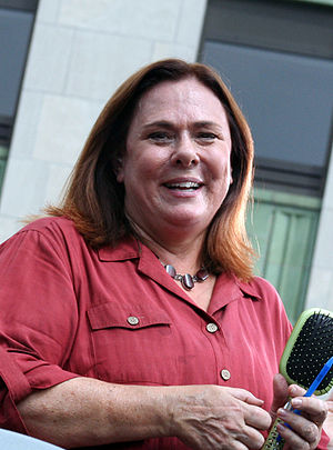 English: Picture of Candy Crowley covering a B...