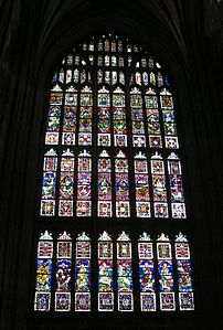 A large Perpendicular style Gothic window