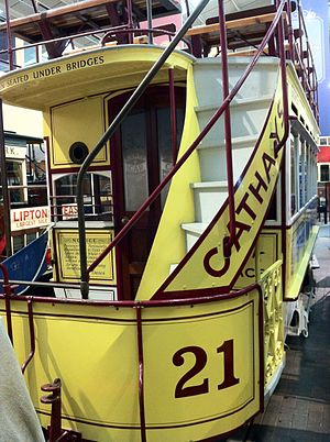 Cardiff Tramways Company - Tramcar 21 at the National Tramway Museum