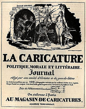 La Peau de chagrin - Balzac publicized the novel he was writing in the Parisian journal La Caricature.