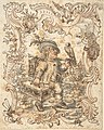 Caricatures of a Fish and a Bird Peddler in Ornamental Frames MET DP803862.jpg