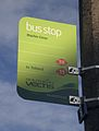 Carisbrooke Machin Close bus stop flag.JPG