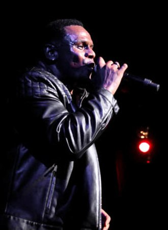 Carl Thomas (singer) - Thomas performs at the Legends of Bad Boy concert in Beverly Hills, California  in 2014.