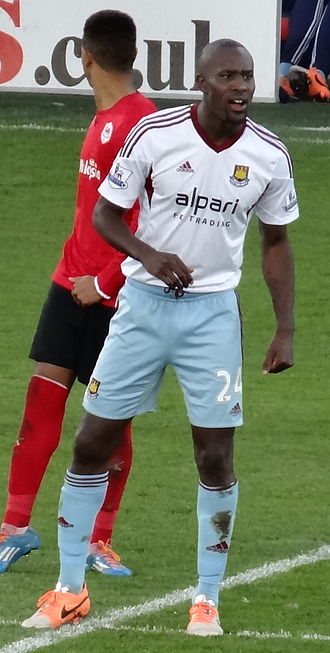 Carlton Cole - Cole playing for West Ham United in 2014